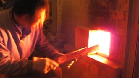 登り窯 窯焚き